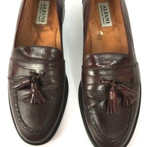 Alfani Italy VTG Brown ALL Leather Tassel Loafer